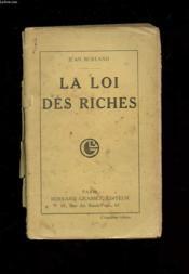 La Loi Des Riches - Couverture - Format classique