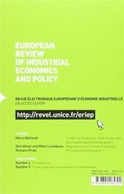 Revue d'économie industrielle N.144 - 4ème de couverture - Format classique