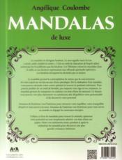 Mandalas de luxe - 4ème de couverture - Format classique