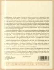 La ballade d'Ali Baba - 4ème de couverture - Format classique