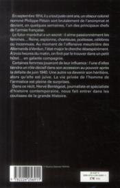 « et surtout, pas un mot à la maréchale... » ; Pétain et ses femmes - 4ème de couverture - Format classique