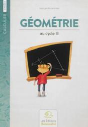 Geometrie au cycle 3 - Couverture - Format classique