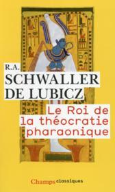 Le roi de la théocratie pharaonique - Couverture - Format classique