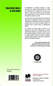 Mobilisations rurales en méditerranée - 4ème de couverture - Format classique