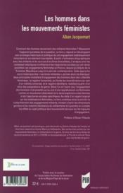 Les hommes dans les mouvements féministes ; socio-histoire d'un engagement improbable - 4ème de couverture - Format classique