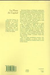 La fleur du capital - 4ème de couverture - Format classique