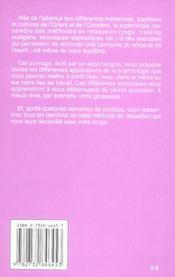 Energie Et Dynamisme Grace A La Sophrologie Poche - 4ème de couverture - Format classique