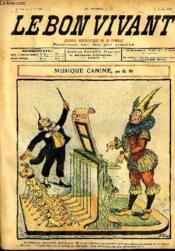 Le bon vivant n°336 - Musique canine - Couverture - Format classique