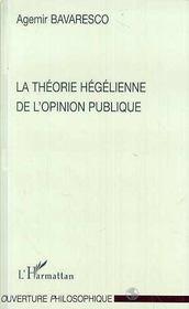 La théorie hégélienne de l'opinion publique - Intérieur - Format classique