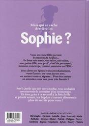 L'encyclopédie des prénoms en bd t.15 ; sophie - 4ème de couverture - Format classique