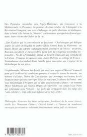 Provences ; pouvoir, religions, hérésies ; 2000 ans d'histoire - 4ème de couverture - Format classique