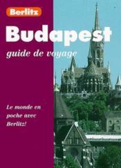 Budapest - Couverture - Format classique