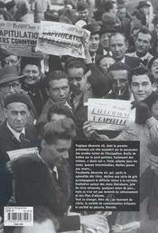 Chronique de la rue parisienne - les annees 40 - 4ème de couverture - Format classique
