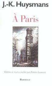 À Paris - Intérieur - Format classique