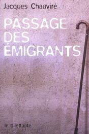 Passage des emigrants - Intérieur - Format classique