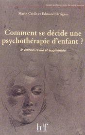 Comment se decide une psychothérapie d'enfant - Intérieur - Format classique