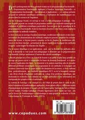 Programmation fonctionnelle appliquée aux calculs scientifiques t.1 ; méthodes numériques et applications - 4ème de couverture - Format classique