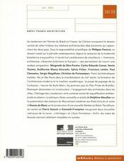 Les Cahiers De La Recherche Architecturale Et Urbaine N.18-19 ; Brésil, France ; Architecture - 4ème de couverture - Format classique