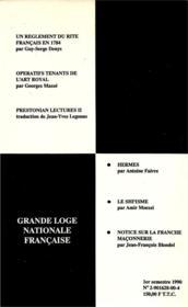 Travaux de la loge nationale de recherches Villard de Honnecourt n°20 - 4ème de couverture - Format classique