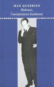 Malraux, l'antiministre fondateur - Intérieur - Format classique