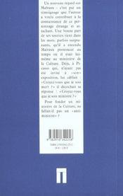 Malraux, l'antiministre fondateur - 4ème de couverture - Format classique