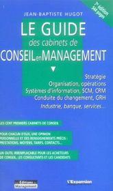 Le guide des cabinets de conseil en management - Intérieur - Format classique