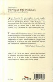 Triptyque sud-marocain ; taroudannt, marrakech, essaouira - 4ème de couverture - Format classique