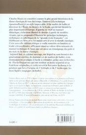 Traité de l'art de la danse - 4ème de couverture - Format classique