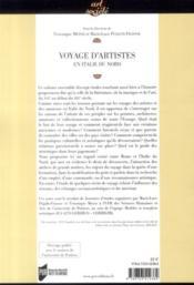 Voyage d'artistes en Italie du Nord XVIe-XIXe siècle - 4ème de couverture - Format classique