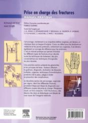 Prise en charge des fractures ; manuel pratique - 4ème de couverture - Format classique