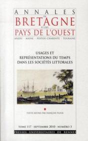 Usages et représentations du temps dans les sociétés littorales - Couverture - Format classique