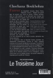 Fureur - 4ème de couverture - Format classique