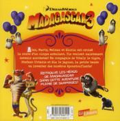 Madagascar 3 ; drôle de cirque - 4ème de couverture - Format classique