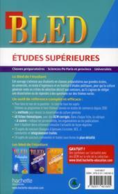 Bled ; Culture Générale ; Etudes Supérieures - 4ème de couverture - Format classique
