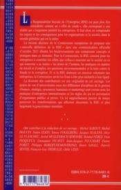 Responsabilite sociale et gouvernance mondiale - 4ème de couverture - Format classique
