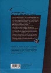 La grammaire des tout premiers temps (2e édition) - 4ème de couverture - Format classique