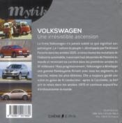 Mytik . volkswagen . modeles cultes - 4ème de couverture - Format classique
