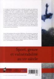 Sport, genre et vulnérabilité au XXe siècle - 4ème de couverture - Format classique