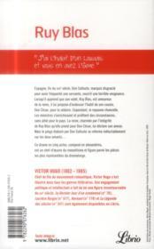 Ruy Blas - 4ème de couverture - Format classique