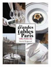 Les grandes tables de Paris - Couverture - Format classique