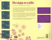 Design textile - 4ème de couverture - Format classique