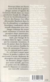 La cabane dans la vigne ; journal 1945-1948 - 4ème de couverture - Format classique