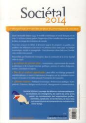 Sociétal 2014 ; France la fin du déni ; compétitivité, ce qu'en pensent les français - 4ème de couverture - Format classique
