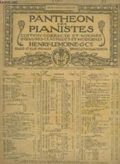 4 Impromptus - Pantheon Des Pianistes N°1066. - Couverture - Format classique