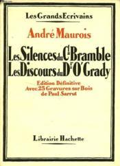 Les Silences Du Colonel Bramble - Les Discours Du Dr O'Grady - Couverture - Format classique