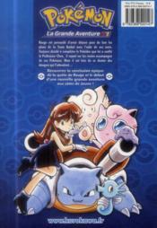 Pokémon ; la grande aventure T.2 - 4ème de couverture - Format classique