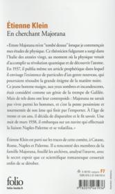 En cherchant Majorana ; le physicien absolu - 4ème de couverture - Format classique