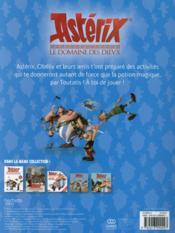 Astérix ; le domaine des Dieux ; mon livre de jeux - 4ème de couverture - Format classique