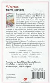 Fièvre romaine - 4ème de couverture - Format classique