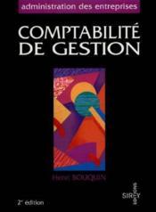 Comptabilite De Gestion - Couverture - Format classique